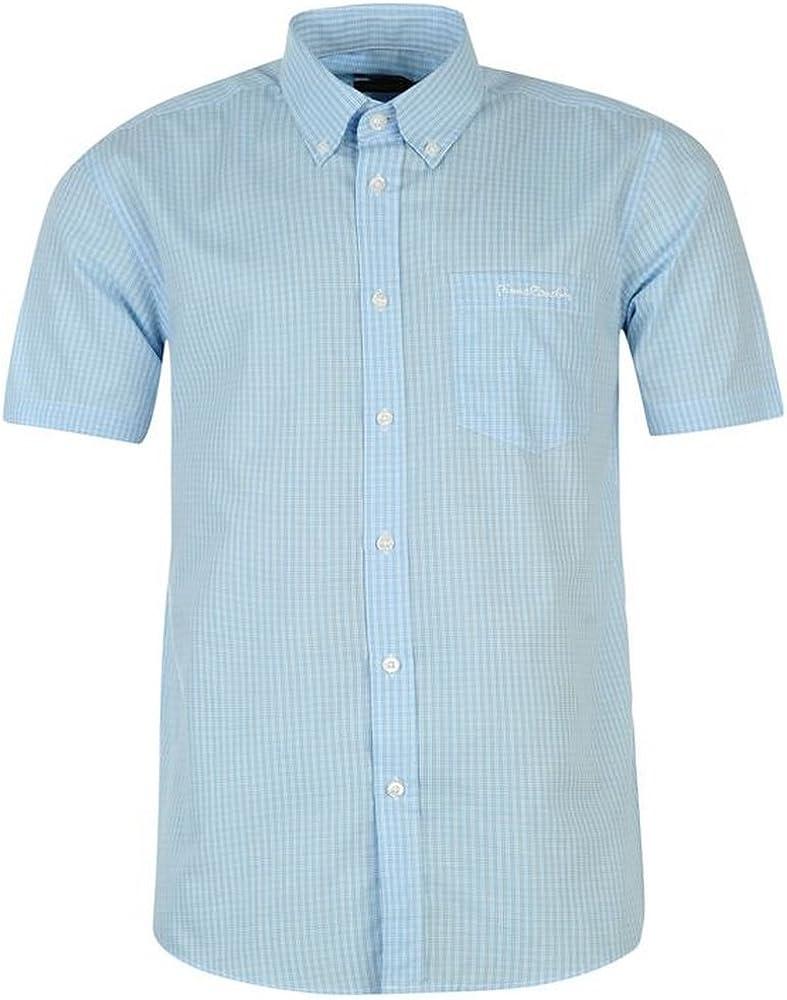 Pierre Cardin - Camisa de manga corta para hombre blanco/azul ...
