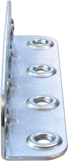 Gedotec Bettverbinder Metall Möbelverbinder Hs Mit Schlüssellochstanzung 23 X 25 X 120 Mm Einhängeverbinder Zum Schrauben Stahl Blau Verzinkt 4 Stück Winkelverbinder Für Möbel Betten Baumarkt