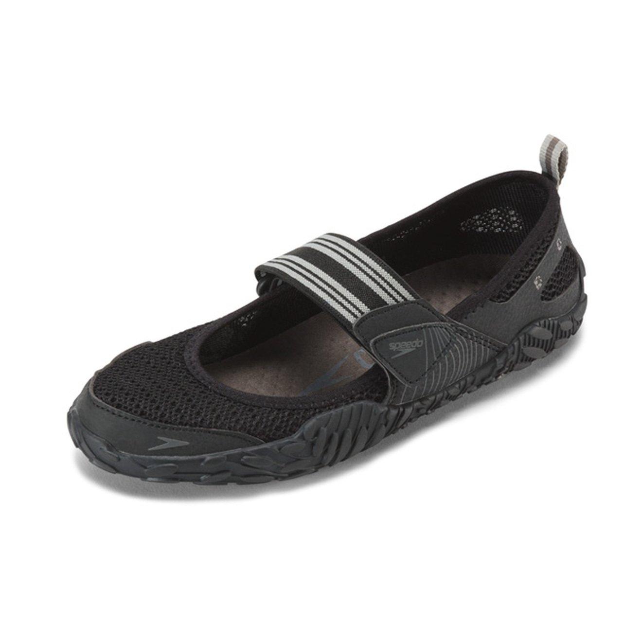 Speedo Women's Offshore Strap Athletic Water Shoe, Black/Black, 7 C/D US
