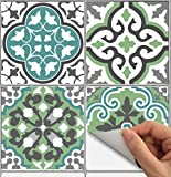 Tile Stickers Barcelona 40pc 6x6in Peel and Stick for kitchen and bath Bmix3G-6 40pcs