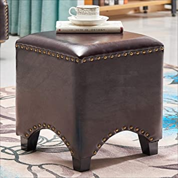 Fine Amazon Com Xm Ottomans Zfgg Leather Pier Footstool Sofa Andrewgaddart Wooden Chair Designs For Living Room Andrewgaddartcom