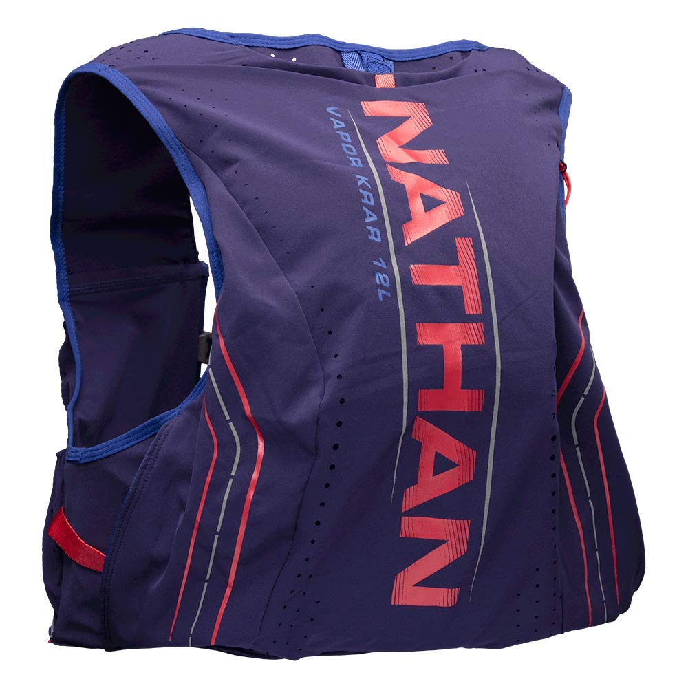 Nathan Men's Hydration Pack/Running Vest - VaporKrar 2.0-12L Capacity with 1.6 L Water Bladder, Hydration Backpack - Running, Marathon, Hiking, Outdoors, Cycling and More