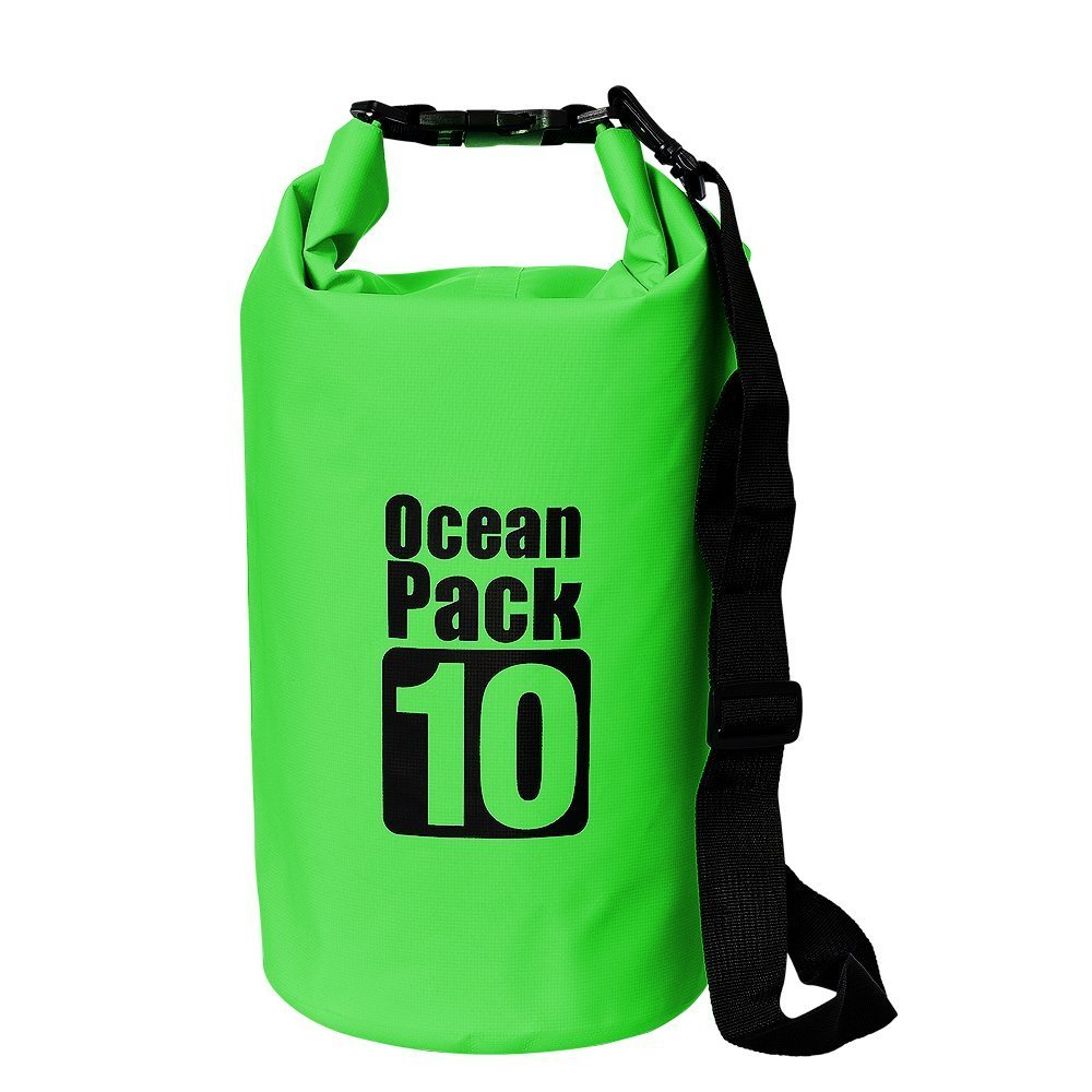 Waterproof Backpack Roll-Top Wet Dry Bag 28L for Boating Kayaking Hiking Camping