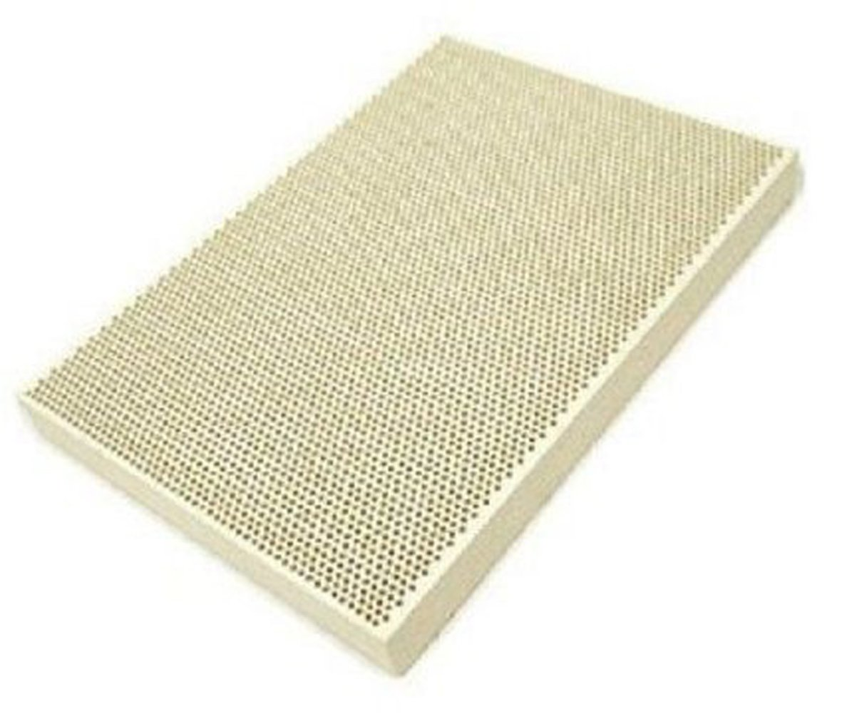Size 51//2X73//4 Block JSP/®Honeycomb Design Ceramic Soldering Block 5 1//2 x 7 3//4 x 1//2