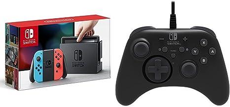 Nintendo Switch - Consola color Azul Neón/Rojo Neón + Mando Pro ...