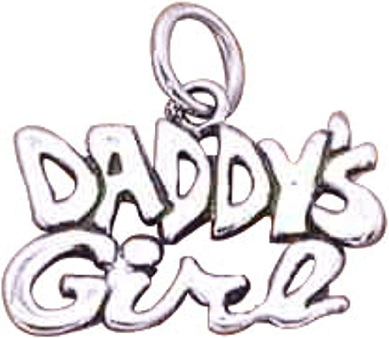 STERLING SILVER DANGLING DADDY/'S GIRL HEART EUROPEAN BEAD