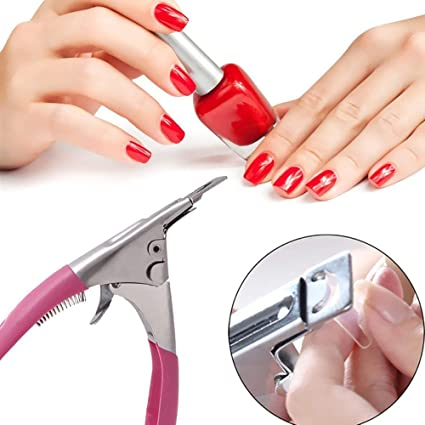 Cortauñas postizas, cortador de puntas de uñas, herramienta de manicura profesional de acero inoxidable