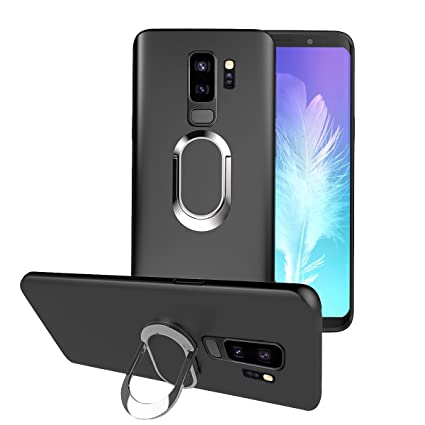 Amazon.com: BeautyWill Galaxy S9 Plus anillo función atril ...