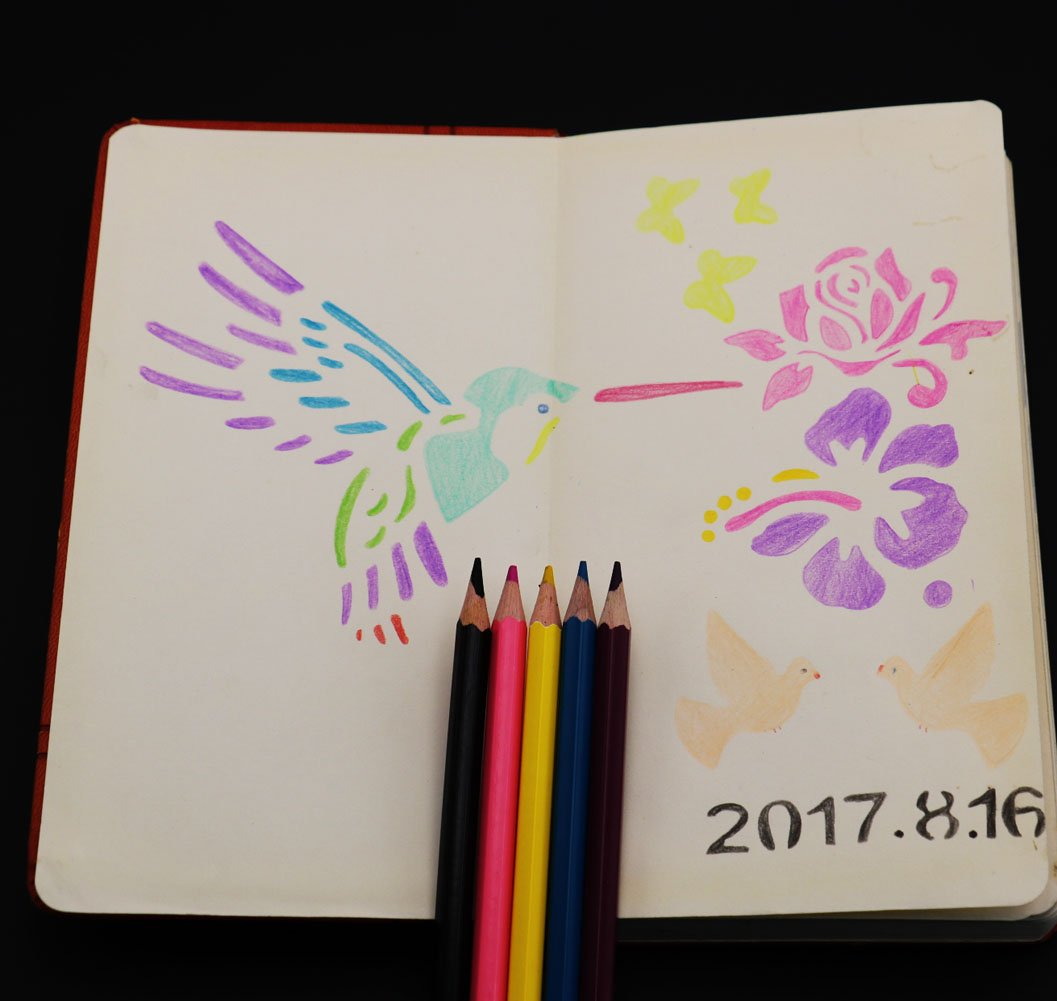 peinture le scrapbooking Sunswei 6/pcs Dessin Pochoirs de peinture, lettres de lalphabet et nombre des mod/èles Pochoir pour Journalisation carte et projets de travaux manuels