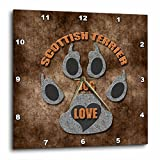3dRose dpp_22104_1 Scottish Terrier Dog Love Dog Breed in Gray and Brown Wall Clock, 10 by 10-Inch Review