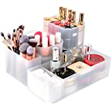 Syntus 5 Pieces Makeup Organizer with Different Size, Adjustable Dividers Customizable Drawer Organizer Trays Office Desk Storage for Bathroom Makeup, Kitchen Utensils, Jewelries and Gadgets