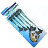 Hrph 100 pcs Fishing Trace Lures Leader Steel Wire Spinner 13/15/18/20/25cm Green