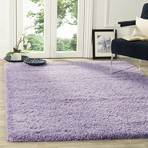 8' Lilac Area Rug - Safavieh California Premium Shag Collection SG151-7272 Lilac Area Rug (3' x 5')