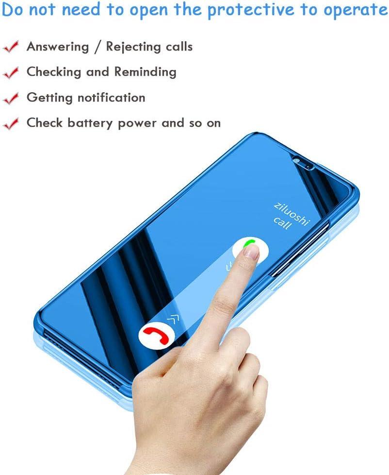 Luxe Feux-plaquent Plating Coque avec b/équille Smart Clear View Coque avec Protection d/écran Une Couverture compl/ète Film Souple pour Samsung Galaxy S9 Galaxy S9/Miroir Flip Coque