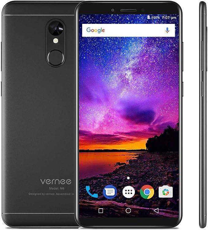 vernee M6 4G Teléfono Móvil Pantalla HD + 18: 9 de 5,7 Pulgadas MT6750 Ocho nucleos 4 GB + 64 GB 16 MP + 13 MP 3300 mAh Android 7.0: Amazon.es: Electrónica