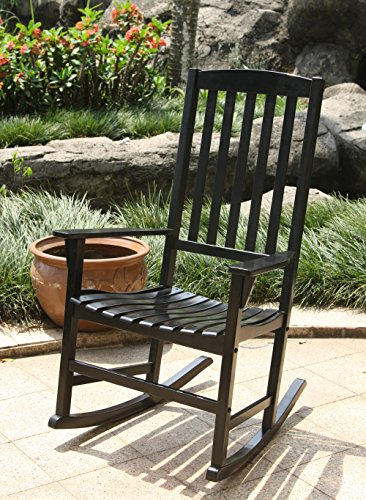 Cambridge Casual AMZ-130818B Bentley Porch Rocker, Black