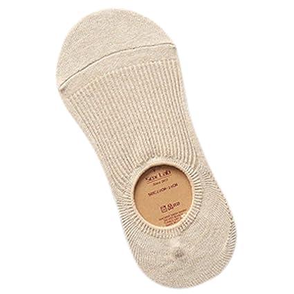 Zoylink Calcetines de Verano para Mujer Calcetines Sin Espectáculo Calcetines Sin Costuras de Algodón Antideslizante Calcetines