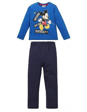Mickey Mouse - Pijama Dos Piezas - para niño Bleu/Marine 4 años