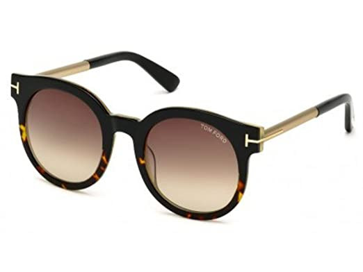 03ea2eb5eb64a Amazon.com  Tom Ford Janina TF435 435F TF435F FT0435-F ASIAN FIT (Black  Other  Brown Gradient