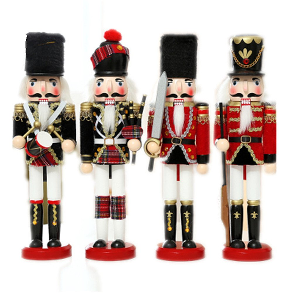 Amazon.de: Satz mit 4 Nussknacker-Soldaten im England/Schottland ...