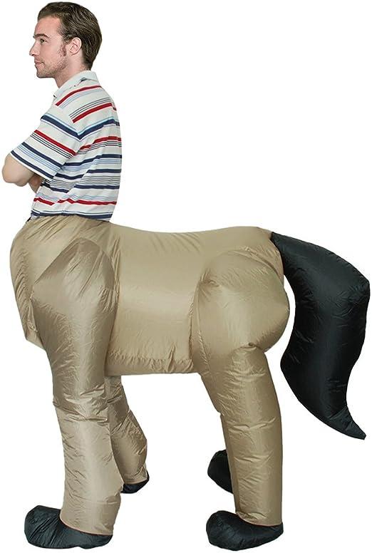 Decdeal - Disfraz Inflable de Caballo para Adultos de 1,5m-2m ...