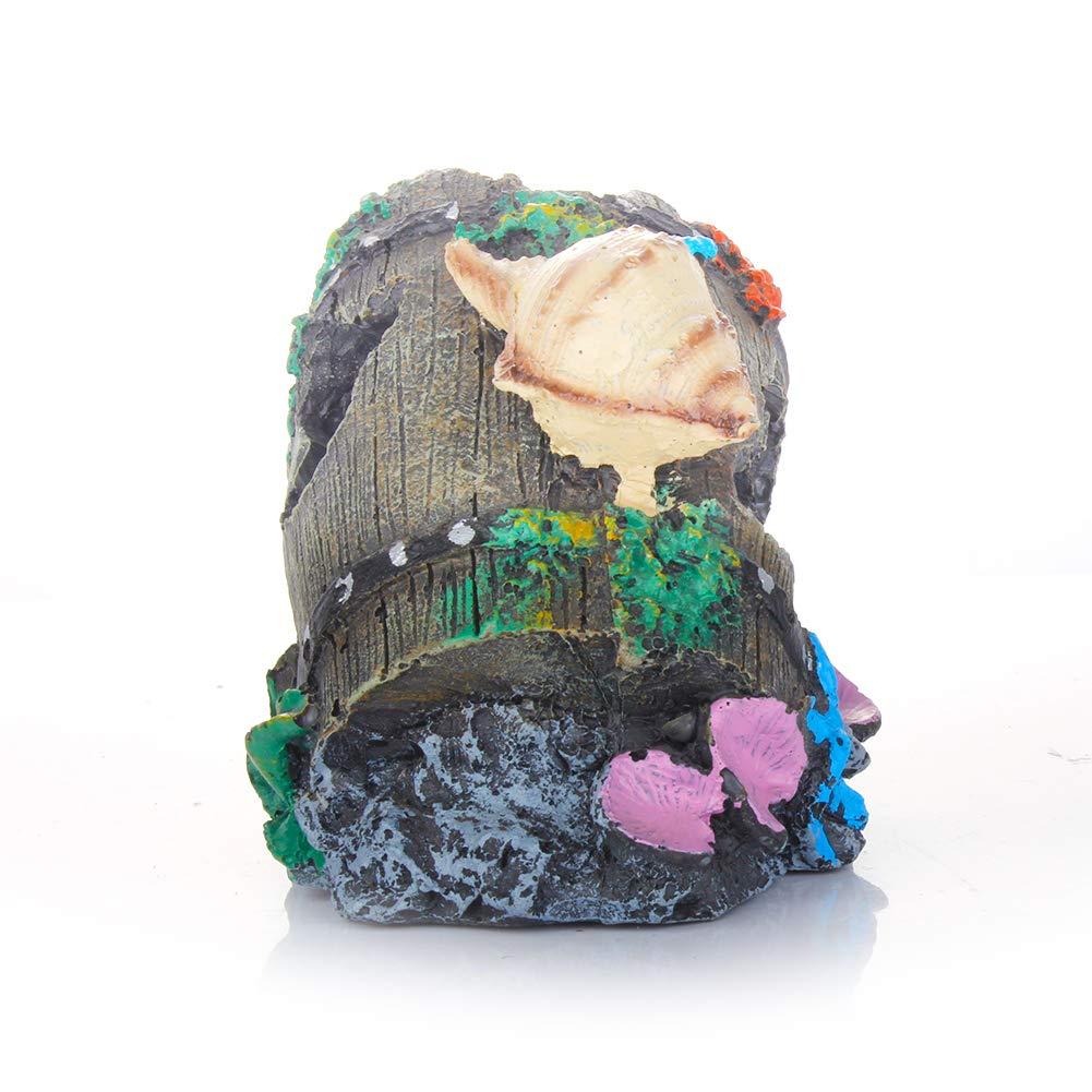 Meiliy resina rotto barile acquario decorazioni per acquario acquario acquatiche Caves Hide Hut