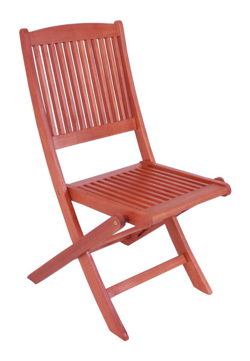 Gartenstühle Klappstühle 2er Set Garten Stühle zum Klappen aus hochwertigem geöltem Holz Eukalyptus