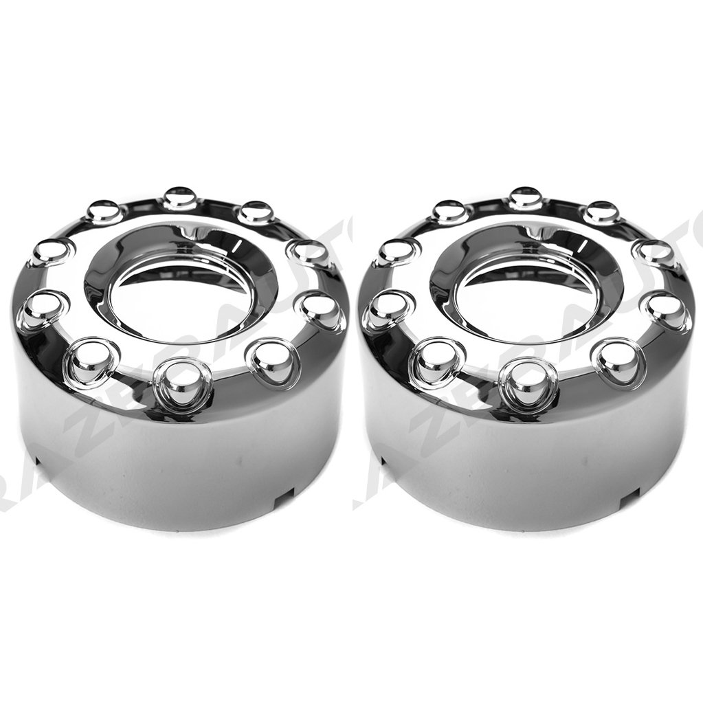 05-17 Ford Super Duty F350+F450+F550 Dually Truck ONLY Chrome 10 Lug FRONT+REAR Wheel Center Hub Cap 4pcs Set by Razer Auto (Image #5)