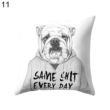 Oso Panda animales sofá manta funda de almohada Funda para cojín funda de almohada de decoración para el hogar, 11#, talla única