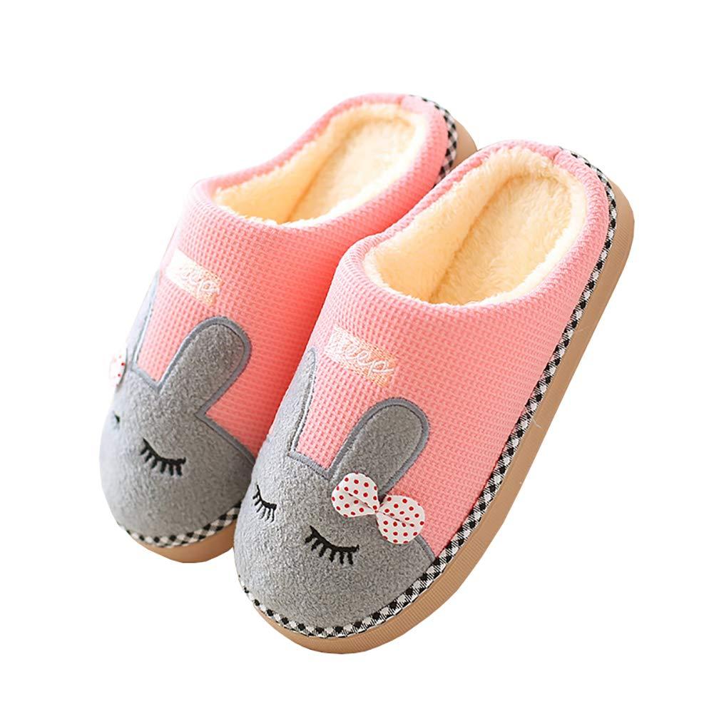 0af0e4f3ebd Cliont Mignon Chat Pantoufles Pantoufles Intérieur Anti Slip Chaussures pour  Les Femmes Et Les Hommes