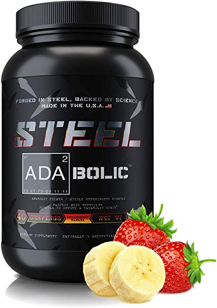Amazon Com Steel Supplements Ada2bolic Workout Recovery Aid Powder Restores Muscle Glycogen 3 75lbs Strawberry Banana Health Personal Care
