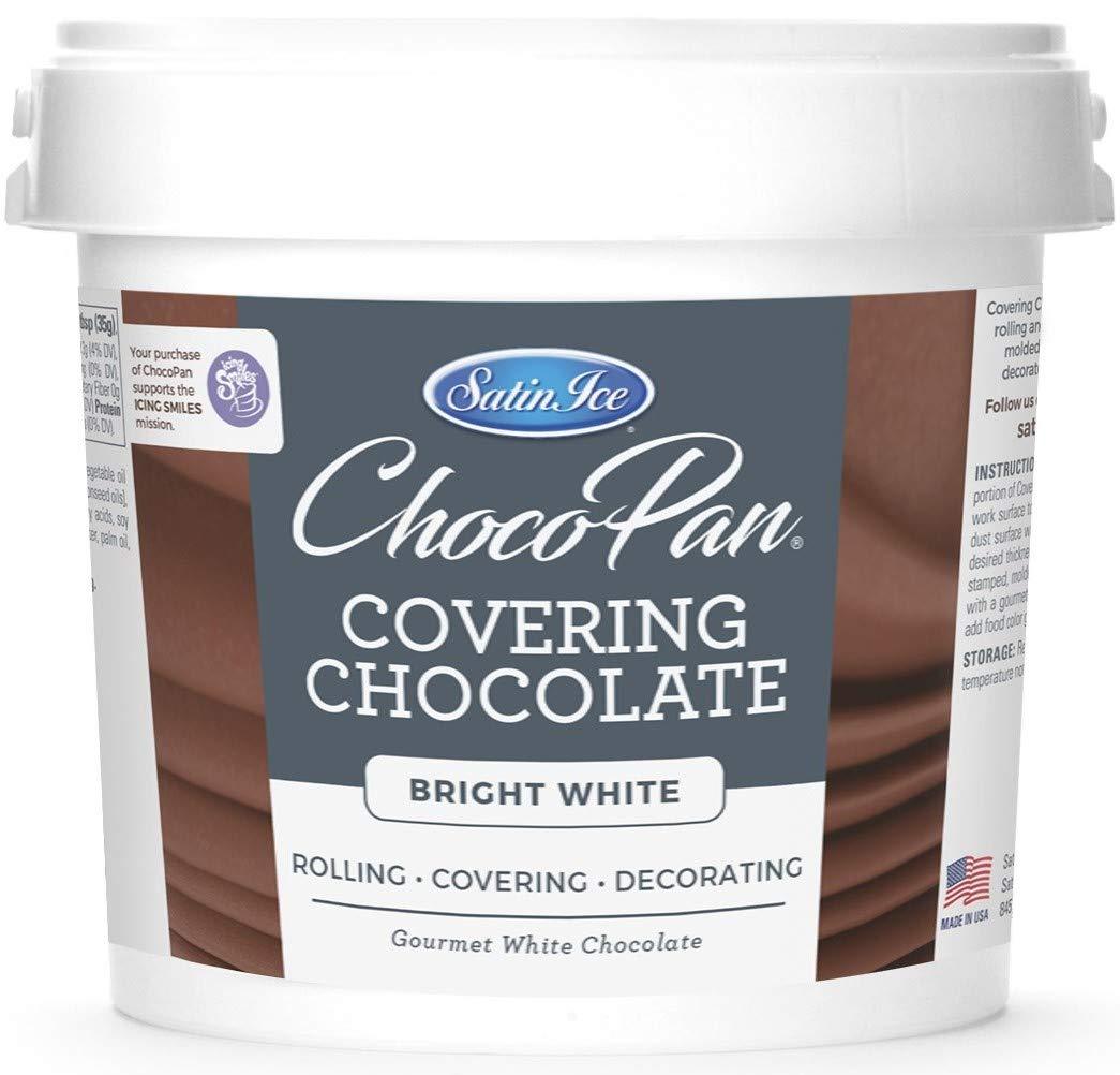 Satin Ice ChocoPan Bright White Covering Chocolate, 10 Pound by Satin Ice
