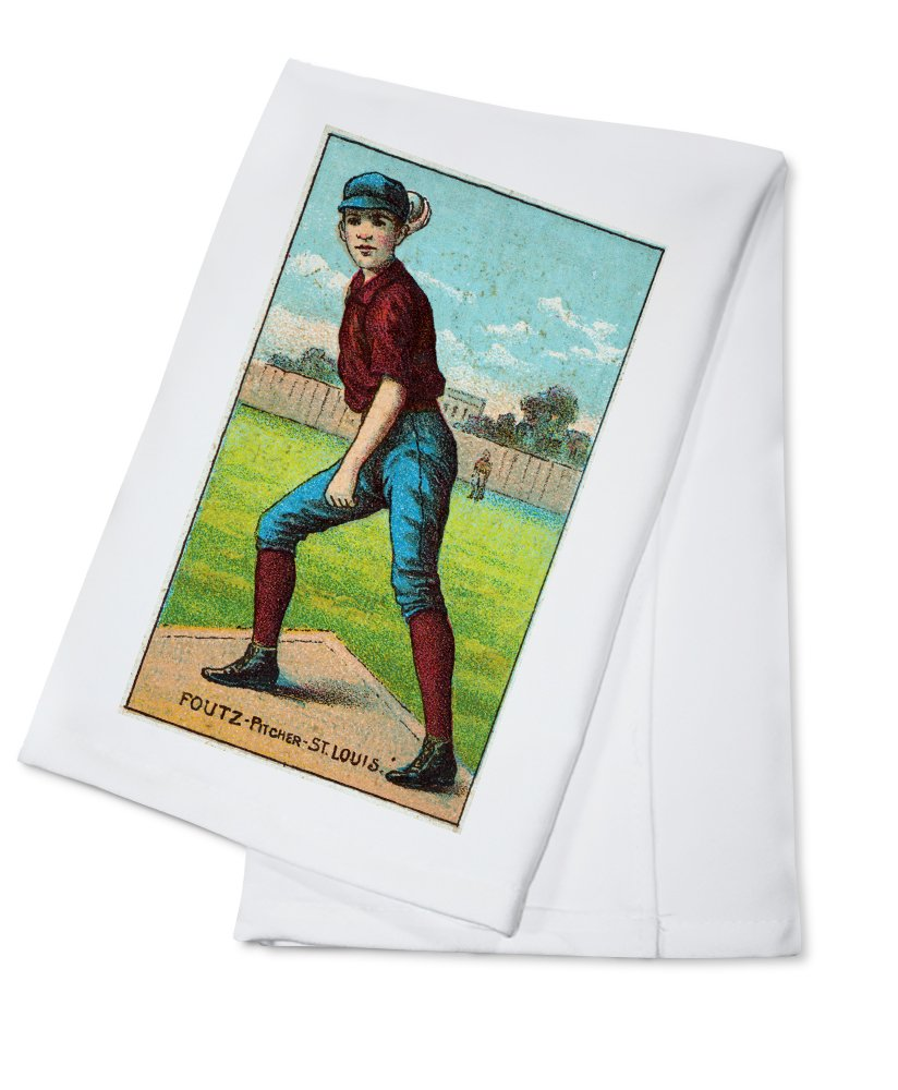 セントルイスBrowns – Dave Foutz – 野球カード Cotton Towel LANT-23085-TL Cotton Towel  B0184B9R14