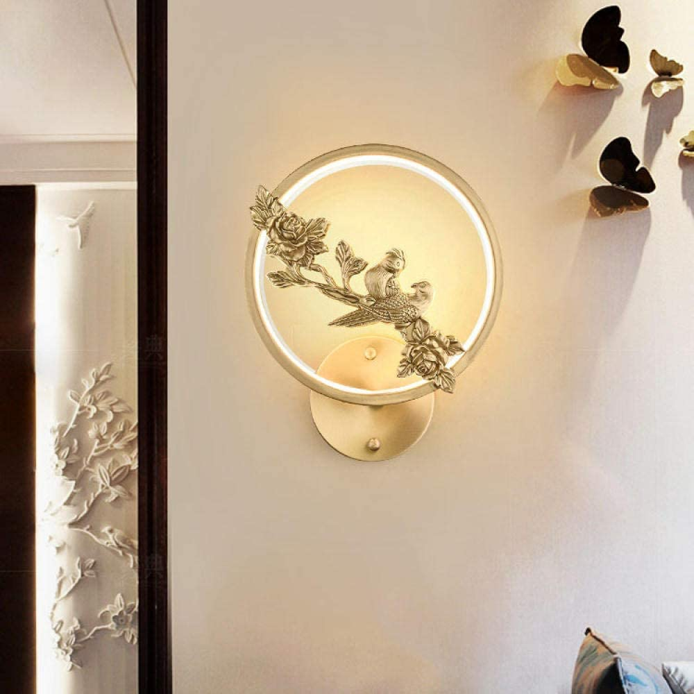 Chinese Style Wall Lamp Living Room Staircase Lamp Bedroom Personality Creative Bedside Lamp Aisle Modern Minimalist Wall Light-Mandarin_Duck_Rose Mandarin Duck Rose