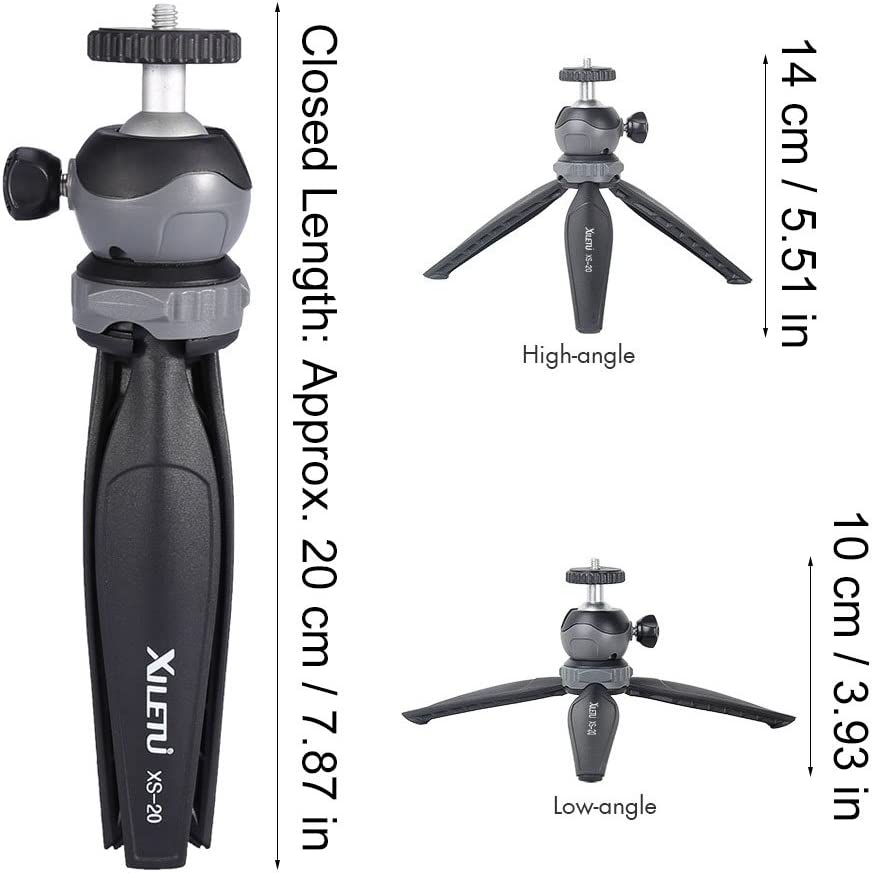 with Maximum Load Bearing 2.5kg,3 Legs Mini Tabletop Tripod for Phone and Camera Adjustable Height,Stable Without Deformation,Using for Indoor//Outdoor