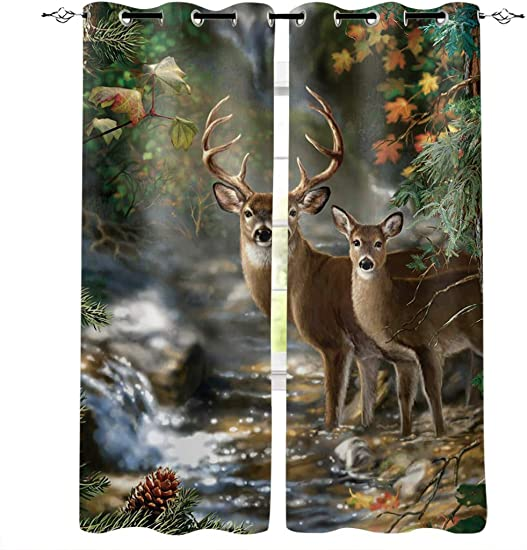 InvisibleWings Deer Blackout Curtains 2 Panels