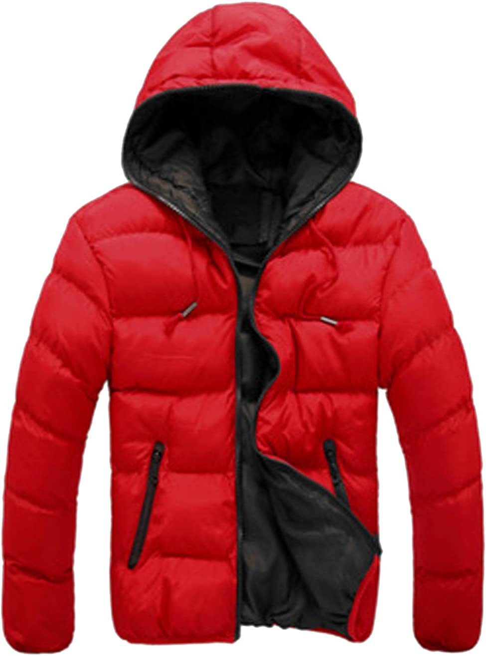S/&S-Men Warm Winter Candy Colors Contrast Lining Thicken Warm Puffer Compressible Jackets