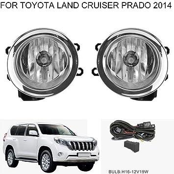 auto-tech bombilla halógena luz de niebla delantera Luz para Toyota Land Cruiser Prado 2014