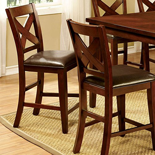 Homedale Transitional Style Vintage Cherry Finish Counter Height Chairs (Set of 2)