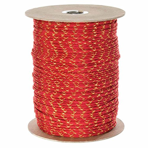 Paracord Planet Metallic 550 Paracord with Sparkle Tracers - Lengths of 10', 25', 50', and 100' - Available in Red, Gold, Green, Blue, and Silver - Add Some Shine to Your Next Paracord Project - Some Sparkle