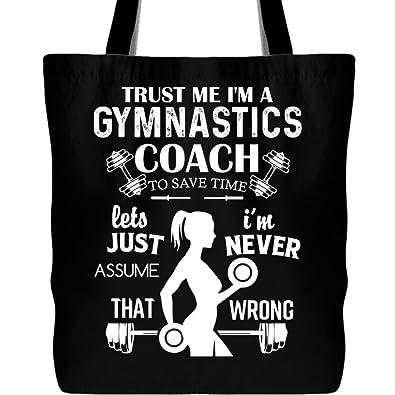 bef2434c61 Amazon.com  I m A Gymnastics Coach Tote Bags