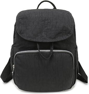 Mini Solid Color Day Packs Backpacks-Black