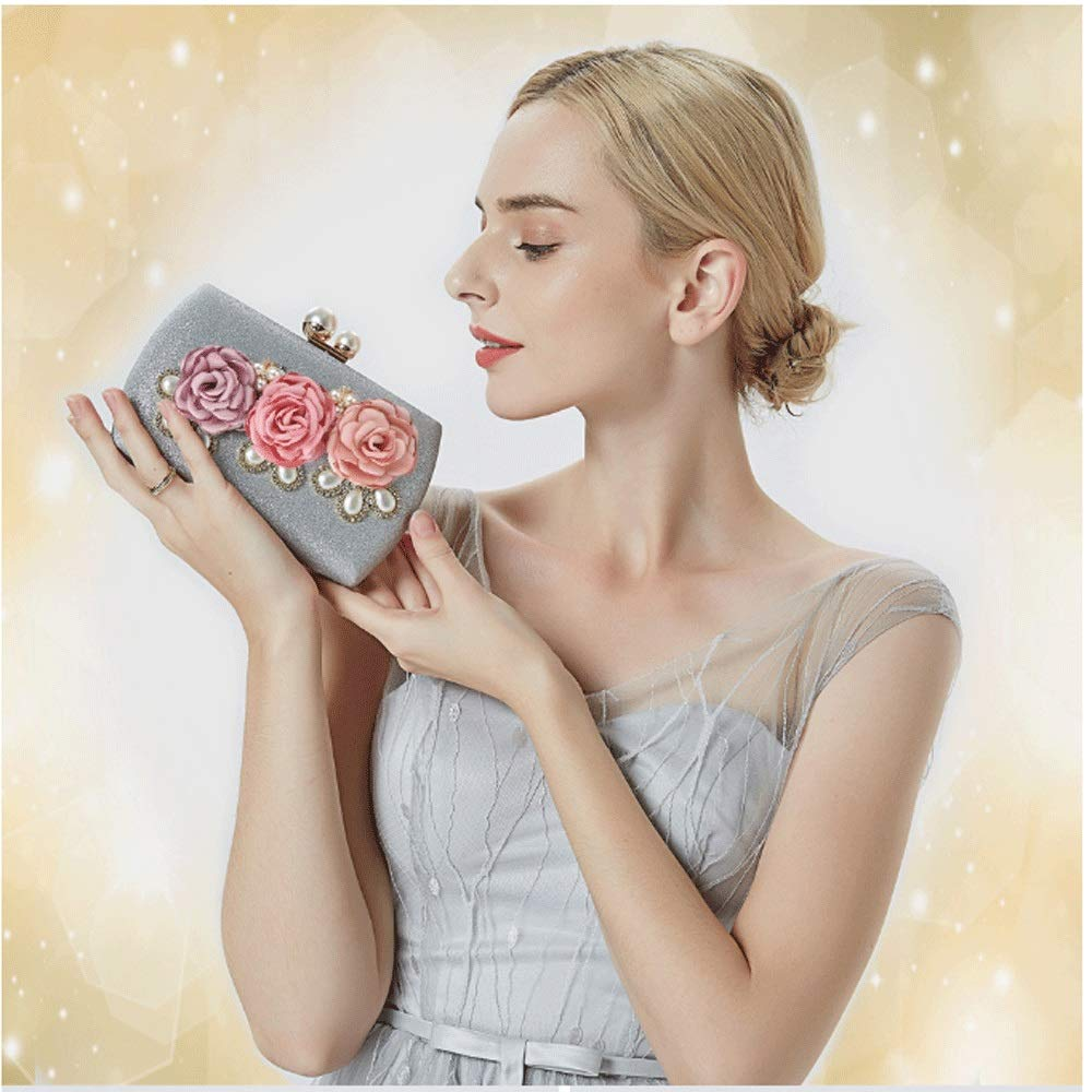 Zhong$chuang damer flicka silver glänsande kristall satin kuvertväska natt bröllop tygväska plånbok strass clutch E