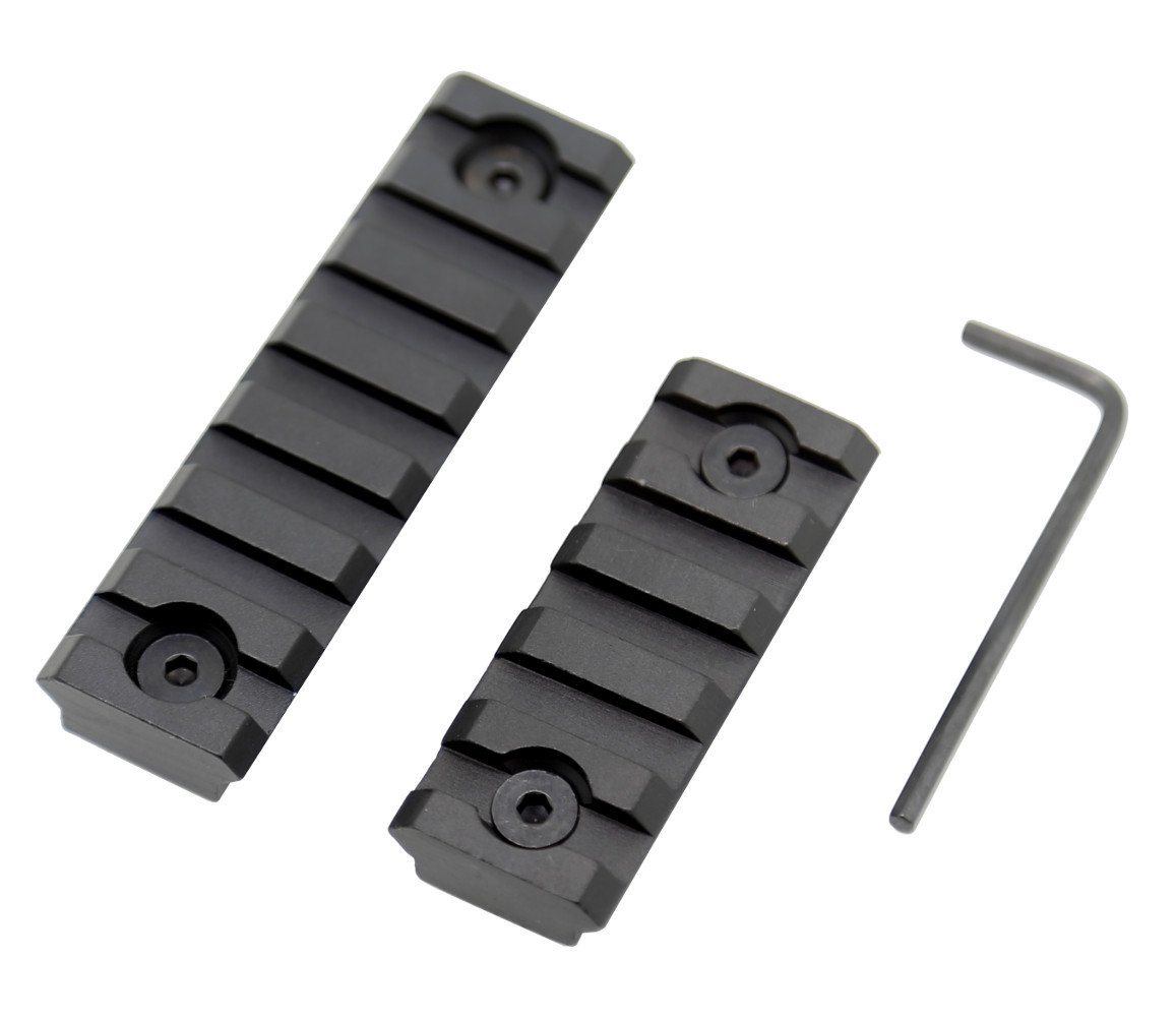 Zengi Sports Keymod Picatinny Rail Section, Picatinny Rail for Keymod Systems, Set of 2 (5-Slot, 7-Slot)