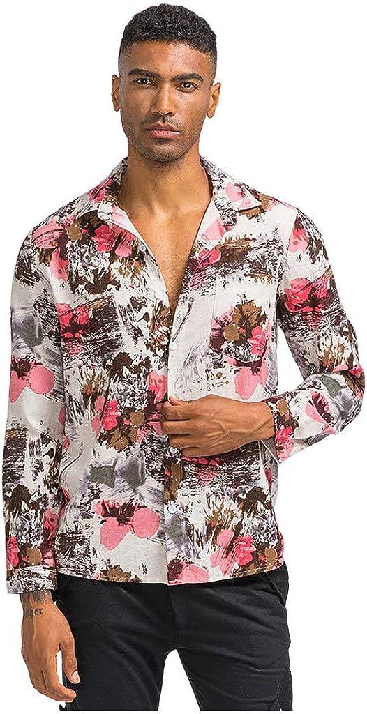 Camisa Hawaiana Hombre Casual Manga Larga con Estampado Floral Vintage de Unisex 3D ImpresióN Verano Playa Funny Hawaii Shirt: Amazon.es: Ropa y accesorios