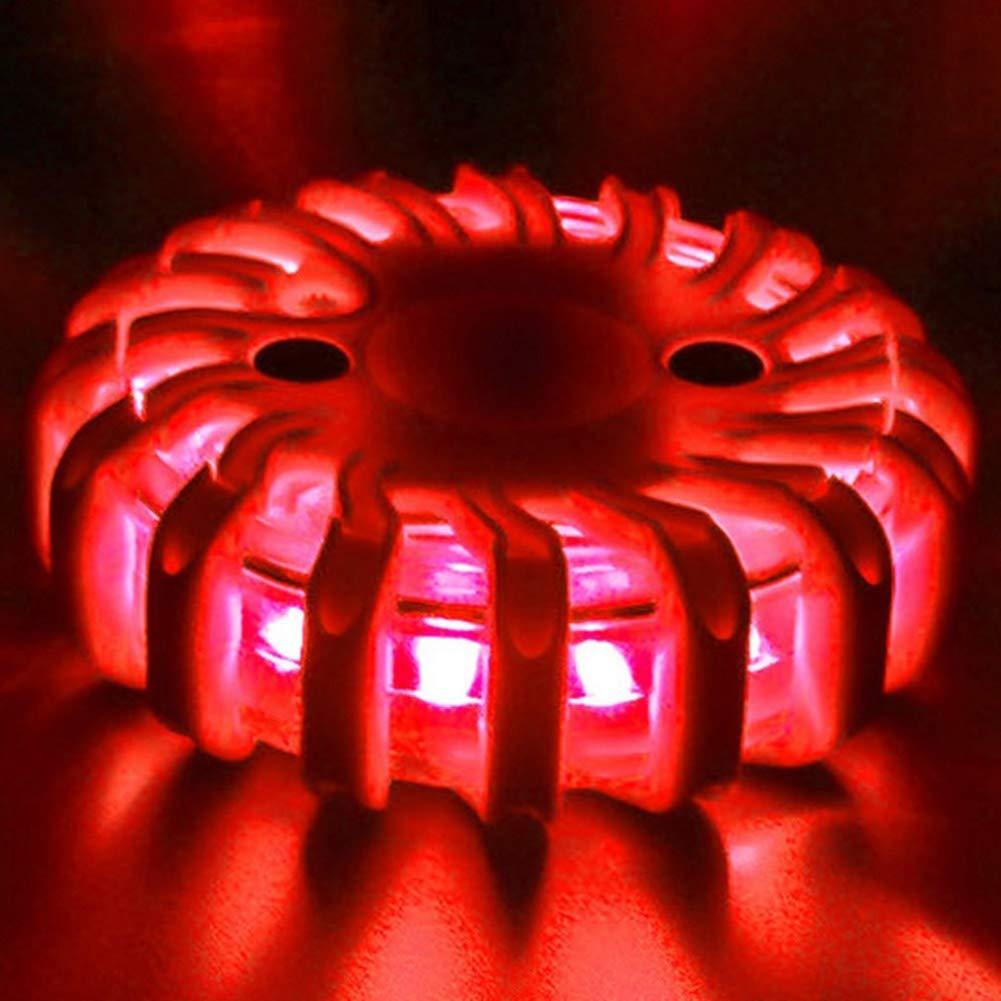 Luces de Emergencia Amarillo Guajave LED luz de Advertencia de tr/áfico Fuerte magn/ético de Seguridad para Carretera
