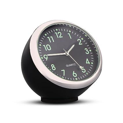 Car Air Vent Clip Mini Clock Luminous Dashboard Auto Interior Quartz