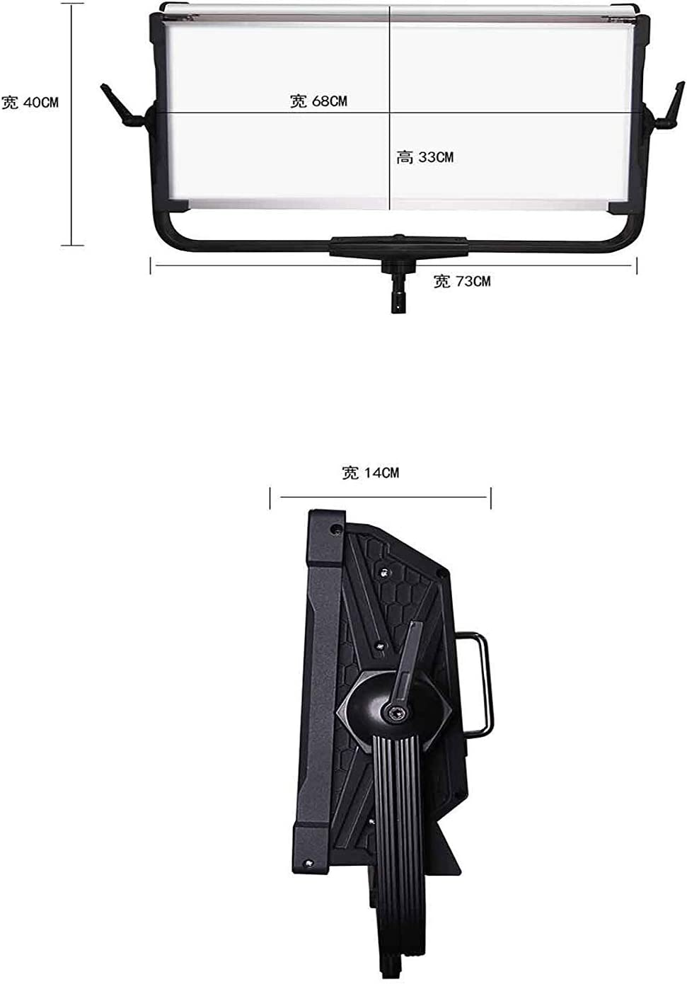Yidoblo Softbox with 300W RGBW LED Panel Lamp APP Control Soft LED Lamp 12 Photography Lighting Effects Set for Studio Video Film Black LED kit
