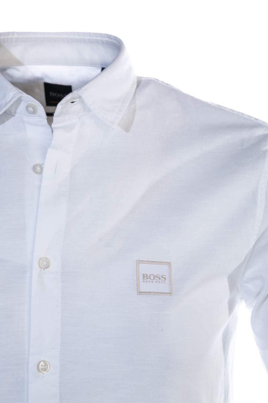 f7be03ef2 BOSS Magneton 1 Short Short Sleeve Shirt in White: Amazon.com.au: Fashion