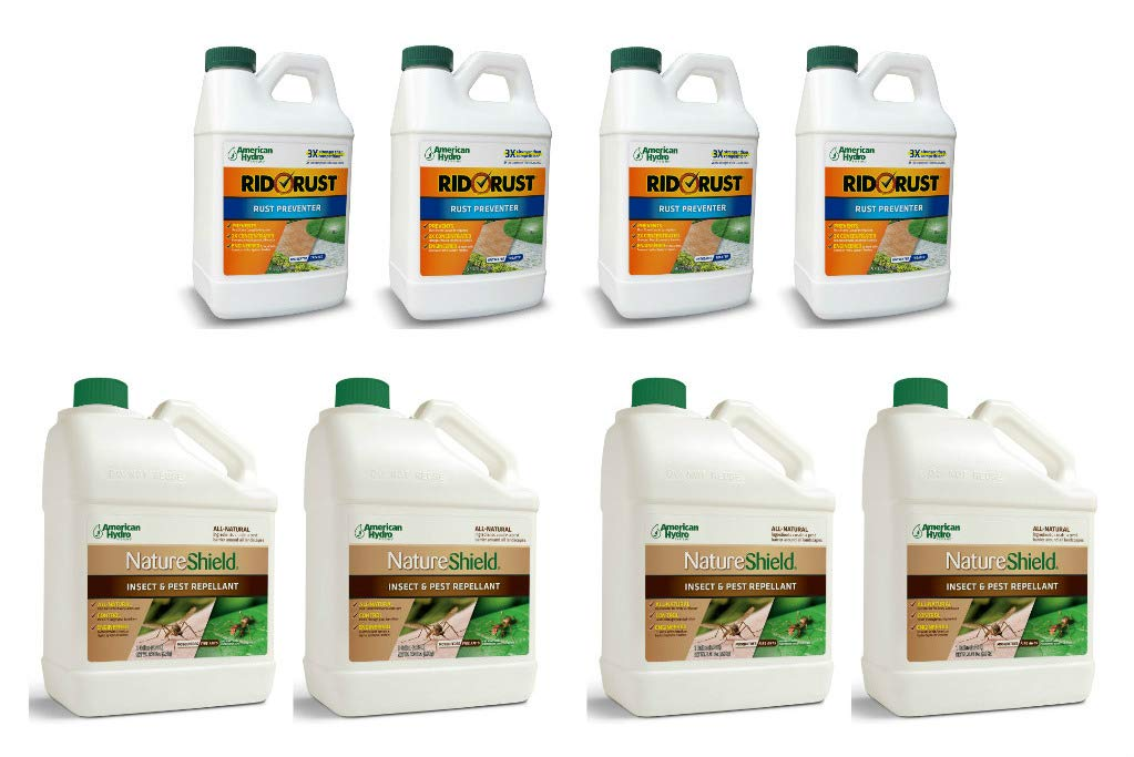 Pro Products Pack Rid O' Rust Stain Preventer and NatureShield Insect Pest Repellant, 8 Bottles Total by Pro Products